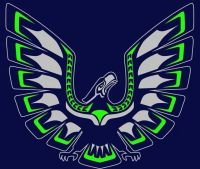 17 Best images about seahawk tribal art on Pinterest