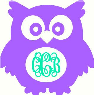 Download Monogram Car Decal Monogram Decal Owl by ...