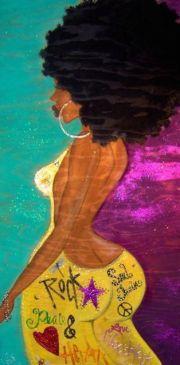 black hair art