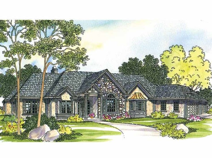 French Country House Plan with 2927 Square Feet and 4 Bedroomss from Dream Home Source  House