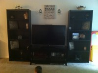 DIY entertainment center!!! Tv stand $99 at biglots, 2 ...