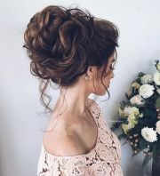 wedding hair brunette