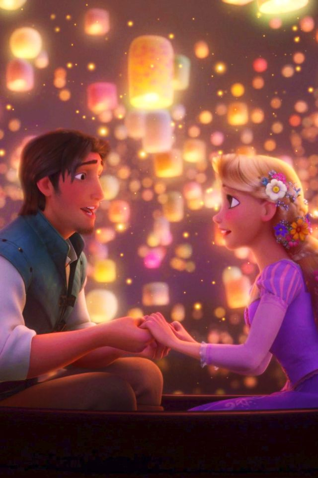 Fall In Love Couples Wallpapers Tangled Rapunzel And Flynn Rider Disney Wallpaper