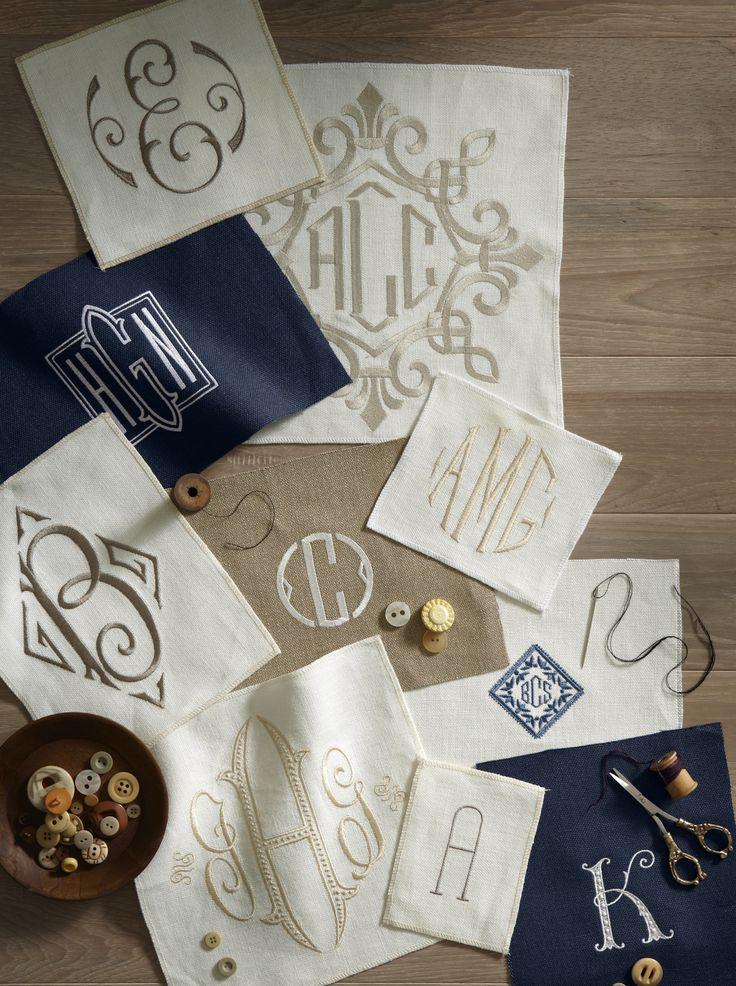 1000 ideas about monogrammed napkins on pinterest