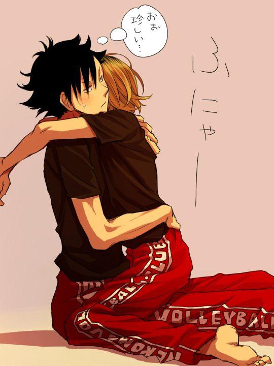 Cute Girl And Boy Hug Wallpaper 17 Best Images About Haikyuu Kuroo X Kenma On