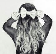 cute hair bow drawing art