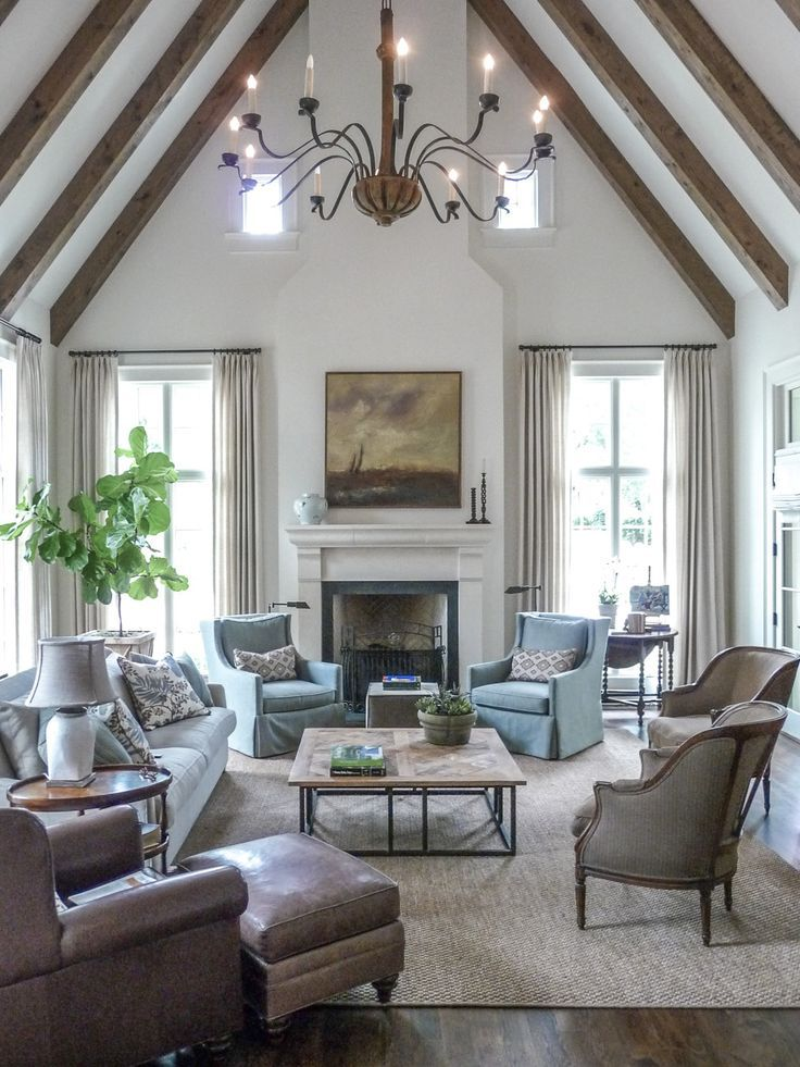 17 Best ideas about Vaulted Living Rooms on Pinterest