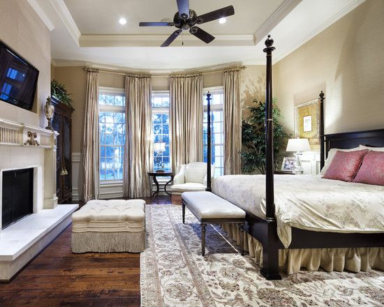 Traditional Bedroom Southern Master Suite Design Pictures