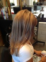 auburn and blonde highlights