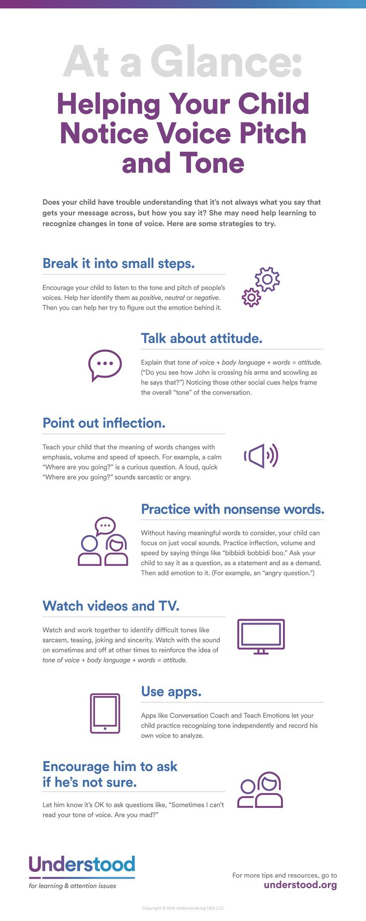 At a glance helping your child notice voice pitch and
