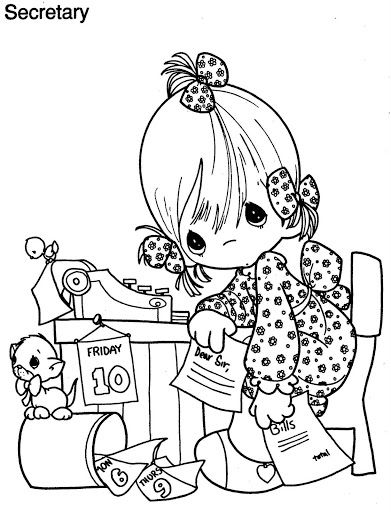 472 best Precious Moments, Holly Hobbie & etc. Coloring