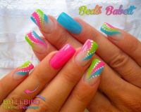 25+ best ideas about Bright Nail Art on Pinterest | Fun ...