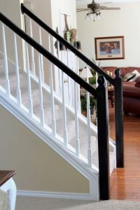 Interior, Simple White Staircase With White Railing