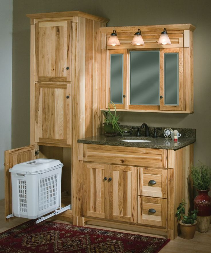 Woodpro Cabinetry Heirloom Collection 42 vanity ensemble with matching Linen Cabinet with