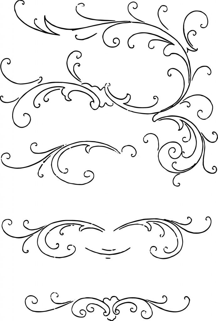 17 Best images about SVG Flourishes Swirls on Pinterest