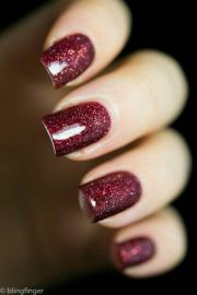 burgundy glitter nailart #nailart