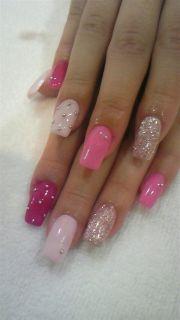 ideas pink nail