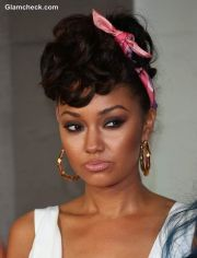 50s hairstyle with scarf - leigh-anne