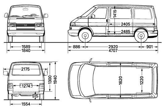 VW T4 Floor plans and dimensions http://i143.photobucket