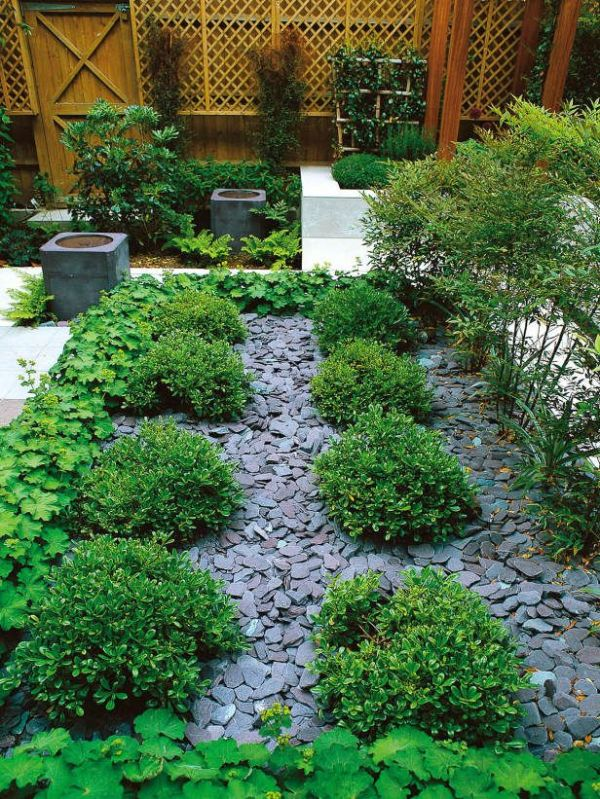 slate chips used mulch pathways