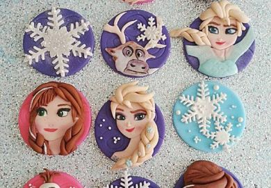 Frozen Theme Cupcake Topper Ideas