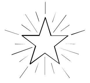 Schneeflocken und Sterne Kostenlose Malvorlage Stern 4