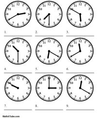 telling time worksheets | telling the time worksheet ...