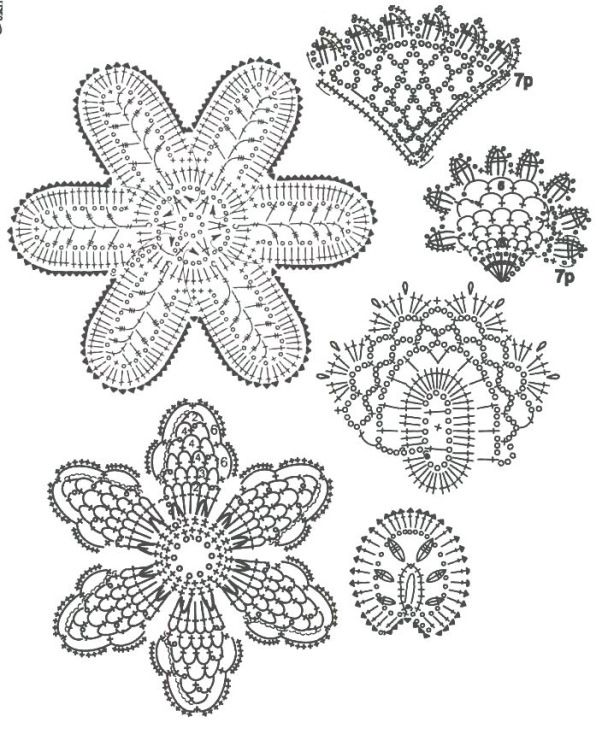 1000+ images about Crochet Stitch: Irish Lace on Pinterest