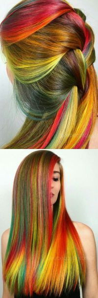 25+ best ideas about Colored Hair Streaks on Pinterest ...