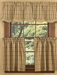 Adamstown Sand Layered Curtain Valance | Country Primitive ...