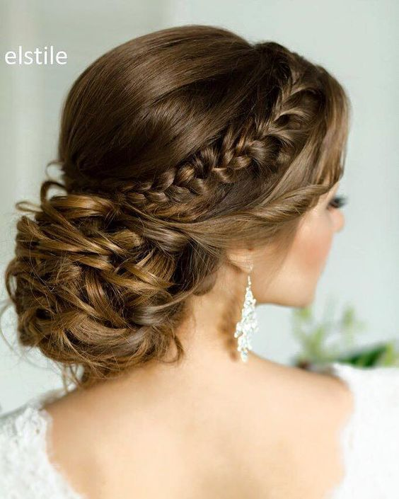 25 Best Ideas About Braided Wedding Hairstyles On Pinterest