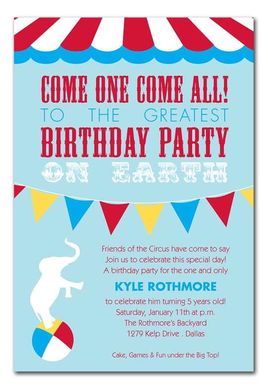 birthday invitation kids