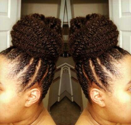 Flat twist  Marley braiding hair bun  BraidsUpdos