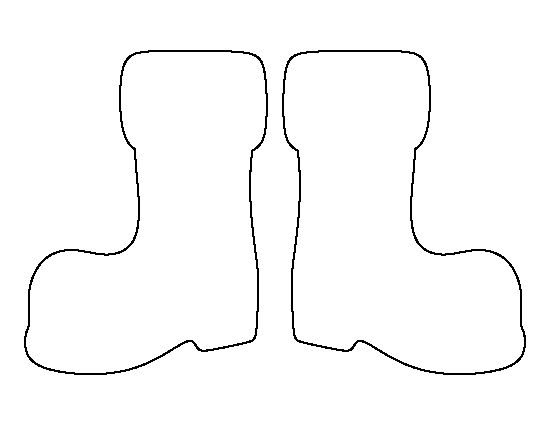 Santa Claus boots pattern. Use the printable outline for
