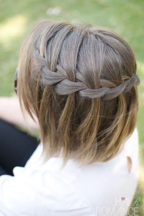 Die Besten 25 Flechtfrisuren Kurze Haare Ideen Auf Pinterest