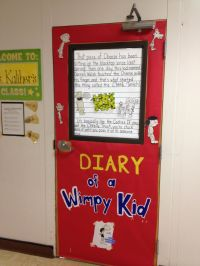 """Door Decorating for """"Celebrate Literacy Week""""...Diary of a ..."""