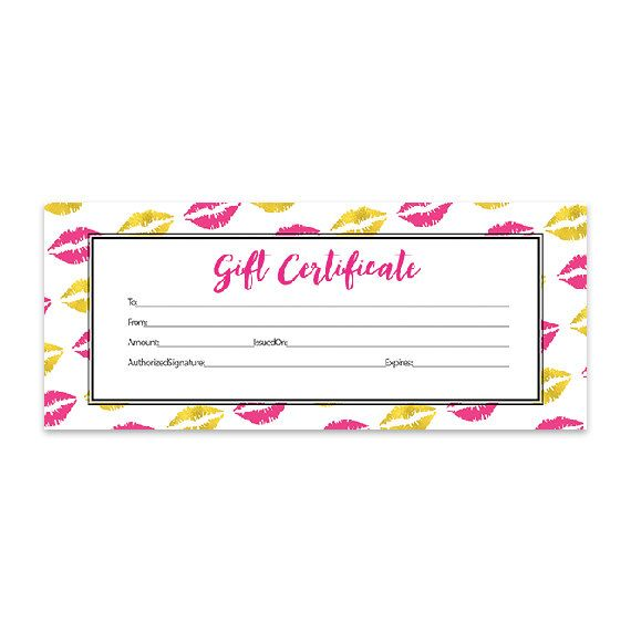 1000 Ideas About Printable Gift Certificates On Pinterest