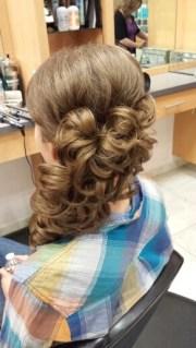 prom hair side curls