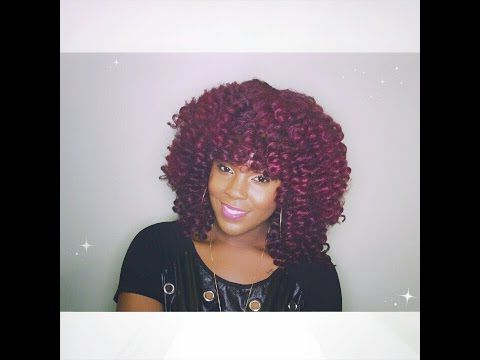 Wig Made Out Of Cuban Twist Hair Colours 99J And T3503