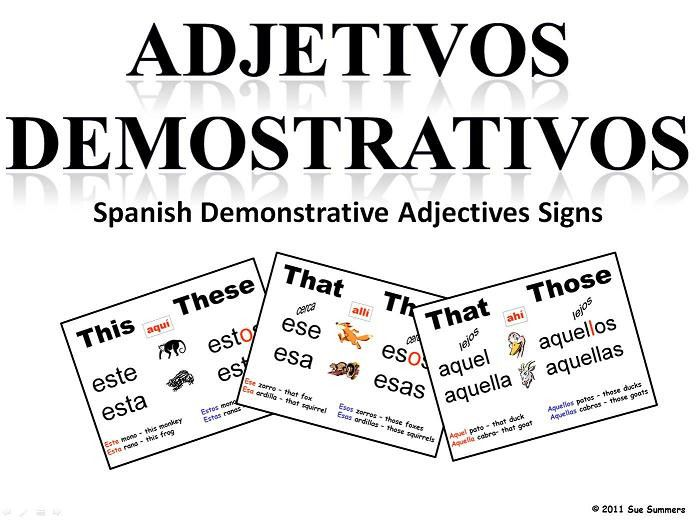 36 best images about Demonstrative adjectives (Los
