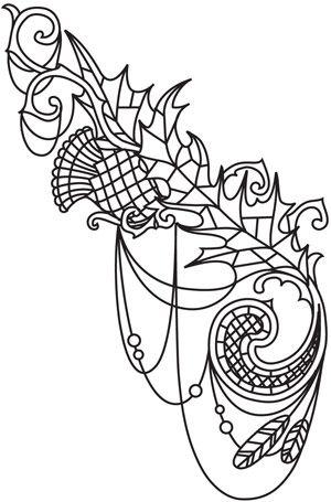 Blackthorn Drape design (UTH5713) from UrbanThreads.com