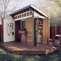 121 best Wood Shed Plans images on Pinterest