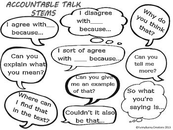 The 25+ best ideas about Accountable Talk Stems on