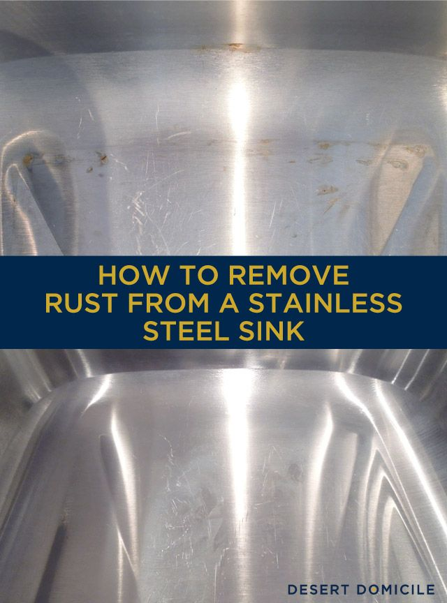 How to Remove Rust From a Stainless Steel Sink  Alabama