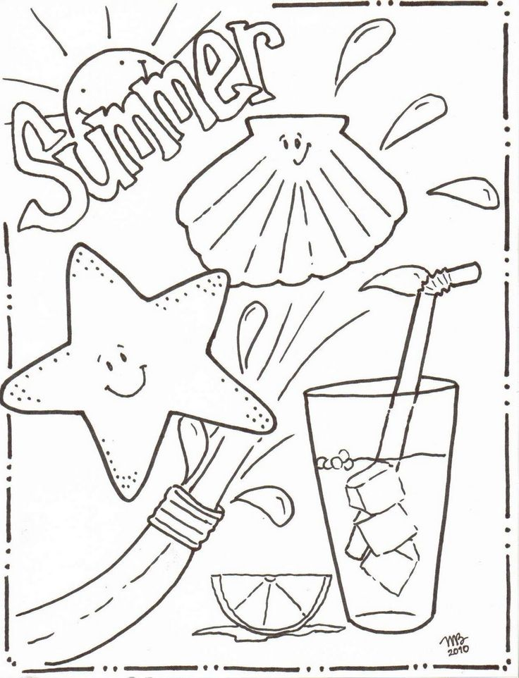25+ best ideas about Summer coloring pages on Pinterest
