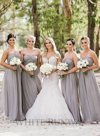 17 Best images about Grey Bridesmaids on Pinterest