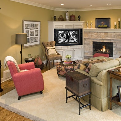 furniture placement in small living room with corner fireplace decorating ideas grey couch tvs, brick fireplaces and tv on pinterest