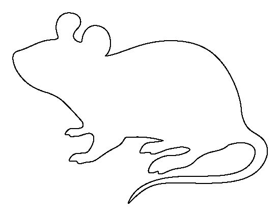 Mouse pattern. Use the printable outline for crafts