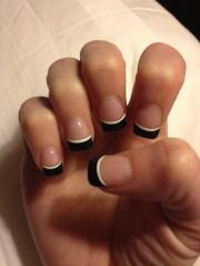 black french tip. cute nail design