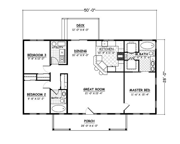 1400 sqft House Plans Home Plans and floor plans from Ultimate Plans  Floor Plans  Pinterest